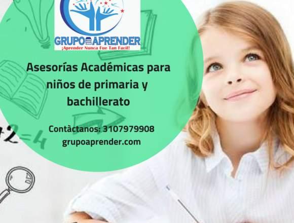 Asesorías Académicas para niños