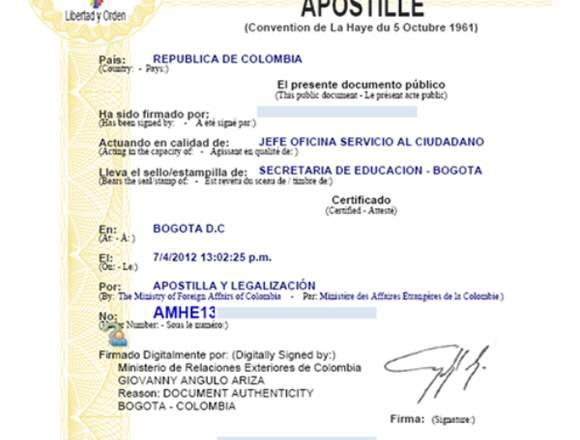 Apostilla y Legalización de documentos