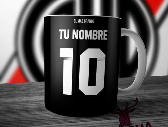 Taza River Plate Camiseta Negra