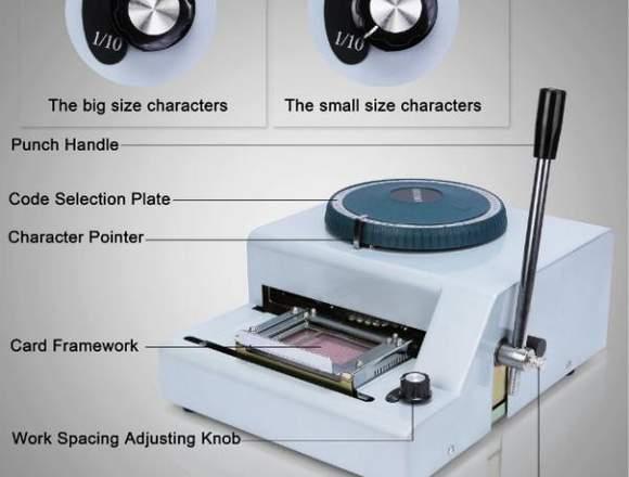 Máquina para estampado de tarjetas PVC Membrecias