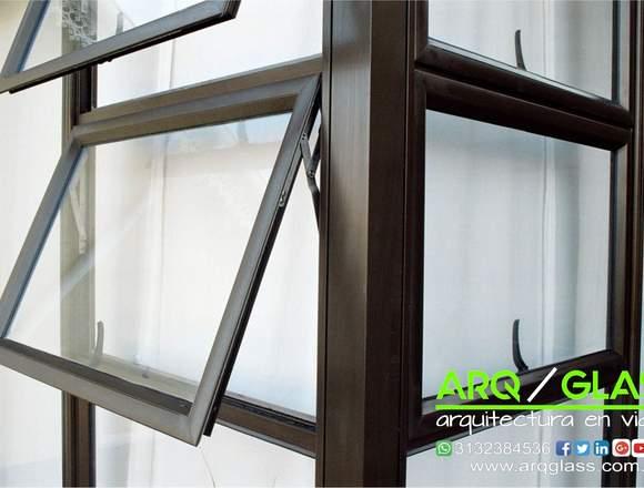 ventanas en aluminio y vidrio