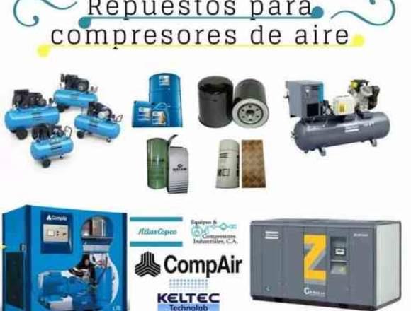 Repuestos para compresores para aire comprimido