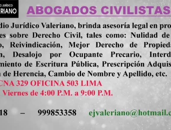 Estudio Jurídico Valeriano - Abogados Civilistas