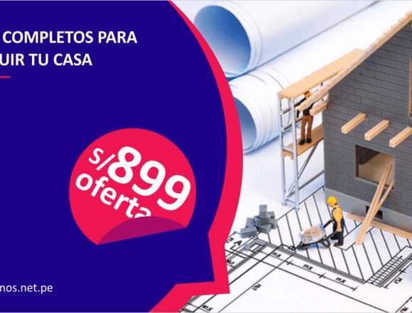 A solo S/ 899 | DISEÑO DE PLANOS PARA CASAS