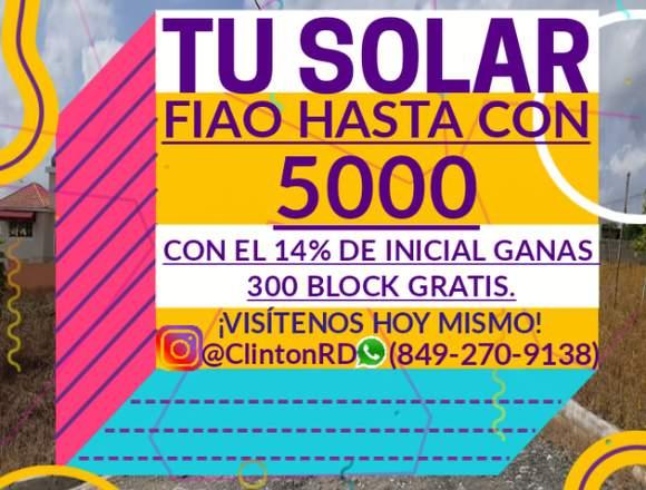 EL SOLAR PARA TU CASA SEPARALO CON 5000 PESOS