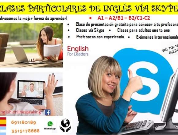 """""""Clases de Inglés vía Skype"""" - Soy profesional"""