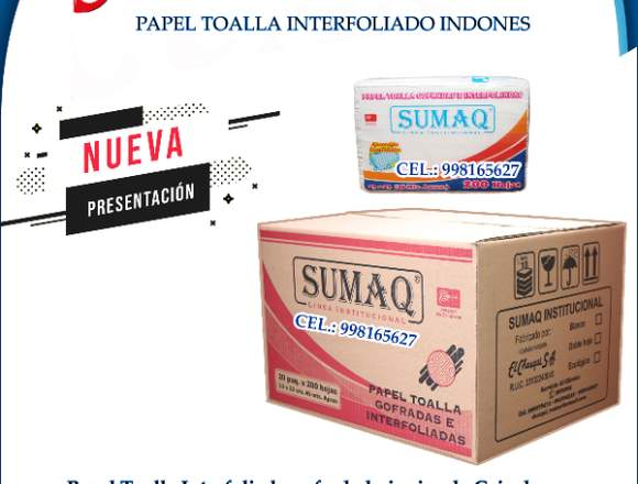 CAJA DE PAPEL TOALLA INTERFOLIADO / MULTIFOLDER