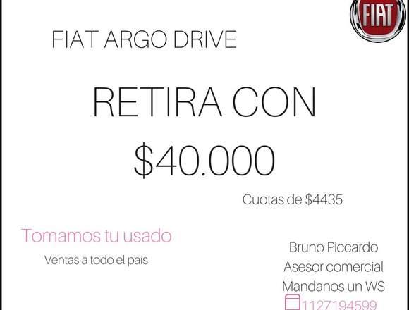 FIAT ARGO 0KM // RETIRA CON 40.000