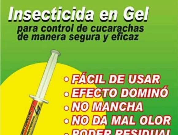 Gel para el control de plagas urbanas: cucarachas