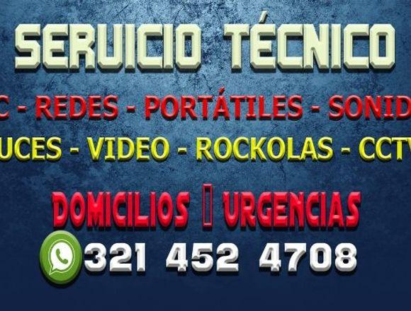 TECNICO DE COMPUTADORES REDES CCTV SONIDO ROCKOLA