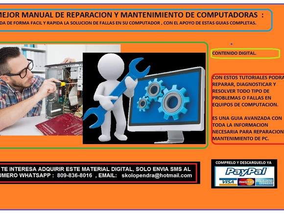 REPARACION Y MANTENIMIENTO DE PC Y LAPTOP