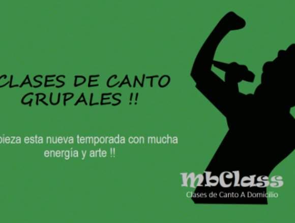 CLASES DE CANTO GRUPAL - MbClass