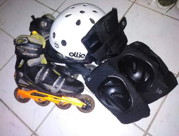 Patines Roller derby con accesorios