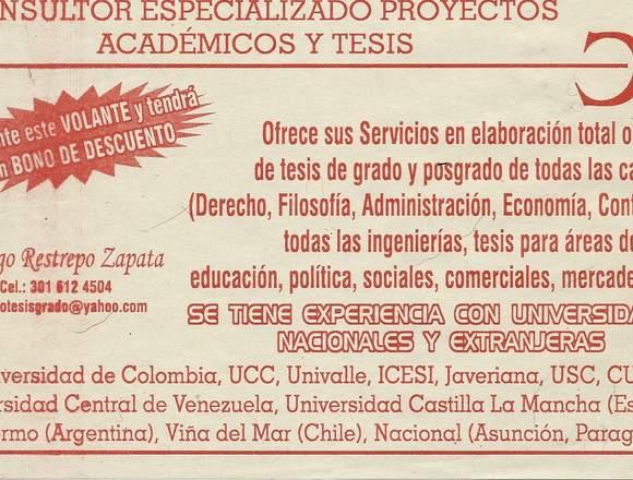 ASESORÍA GESTIÓN DE PROYECTOS & TESIS