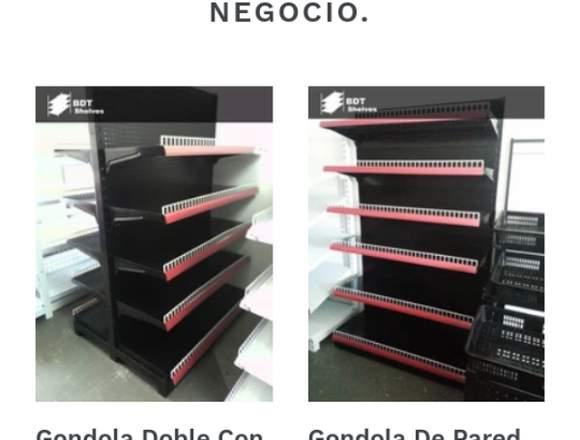 Estantes metálicos para supermercados