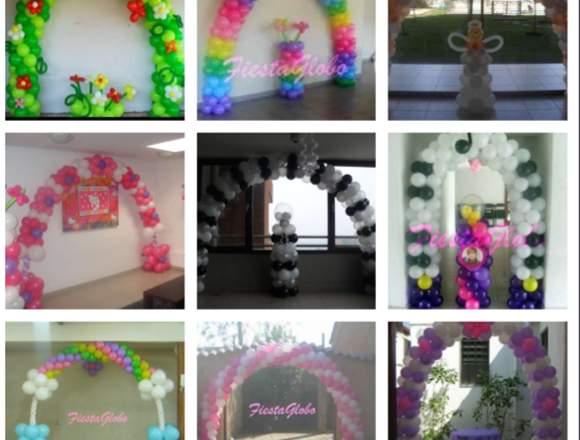 Arcos de globos para cumpleaños, bautizos, fiestas