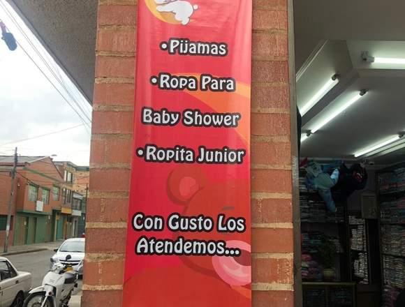 Venta negocio de pijamas, ropa para bebe y junior.