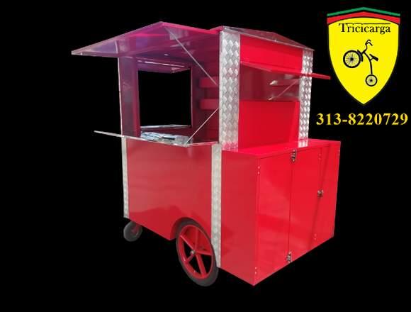 Triciclo para venta de comidas rápidas