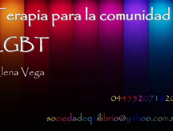 Terapia de pareja e individual para personas LGBTT
