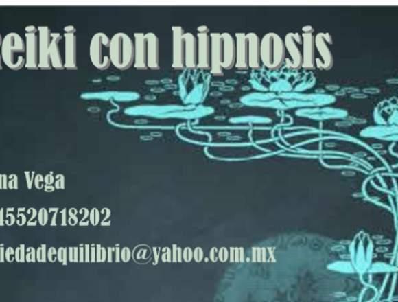 Reiki con Hipnosis, imposición de manos