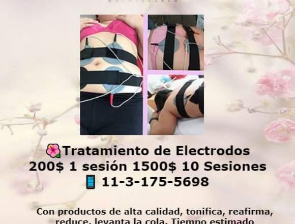Tratamiento de electrodos 1sesión 200$ 10 ses.1500