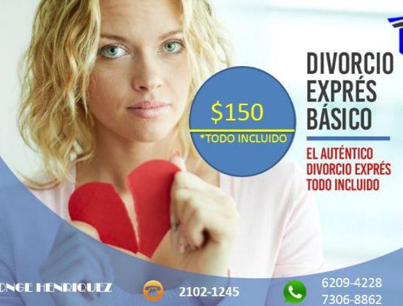 PROCESO DE DIVORCIO EXPRÉS BÁSICO TODO INCLUIDO