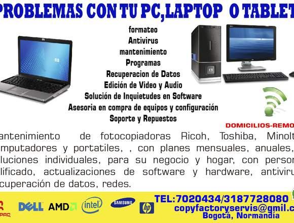 servicio  ventas pc portatiles fotocopiadoras
