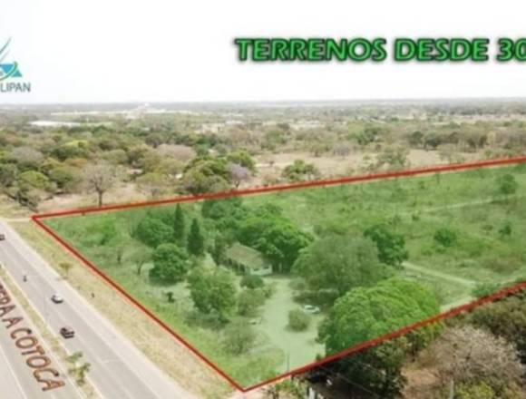 Terrenos en venta en zona urbana de Cotoca