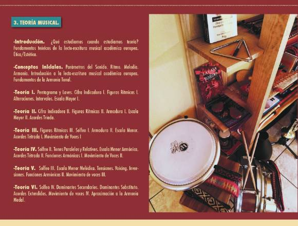 Clases de Música online de distintas Asginaturas