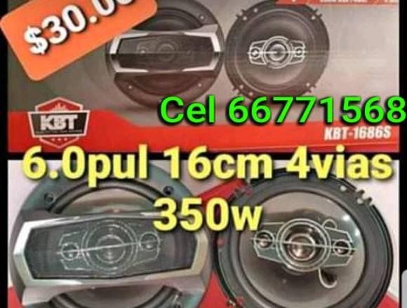 Bocinas KBT 6.0PULG 4 VIAS 350W NUEVAS !!!