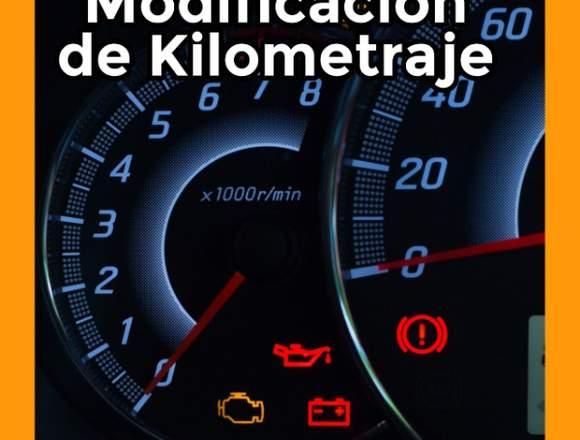 Modificacion de kilometraje