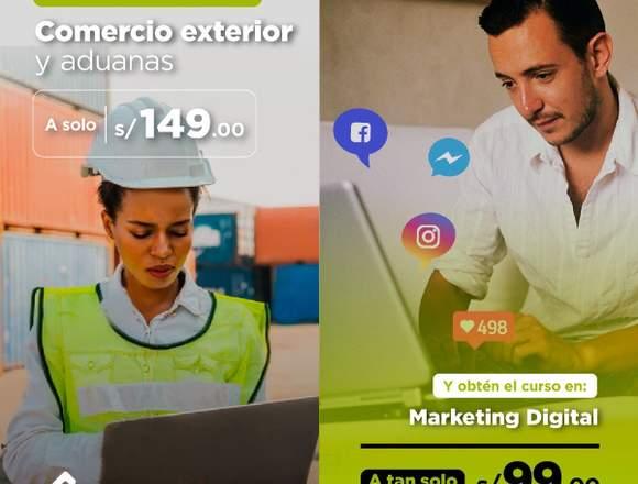 COMERCIO EXTERIOR Y ADUANAS + MARKETING DIGITAL