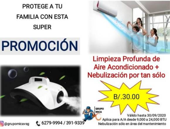 Promoción de mantenimiento de aire y nebulización