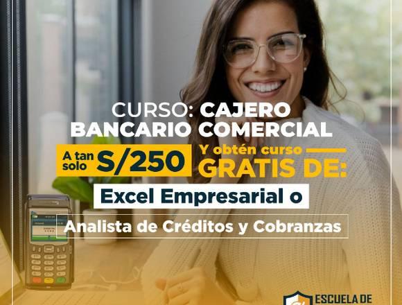 CURSO DE CAJERO BANCARIO Y COMERCIAL- EN VIVO