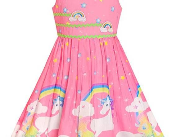 Vestido Unicornio para niña de 10-12 años