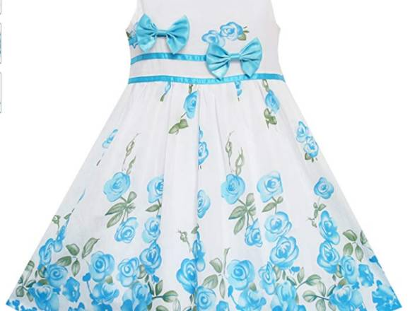 Vestido elegante c-flores - niña 10-12 años