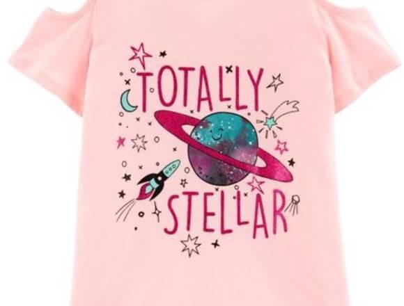 Camiseta rosada niña 7 años