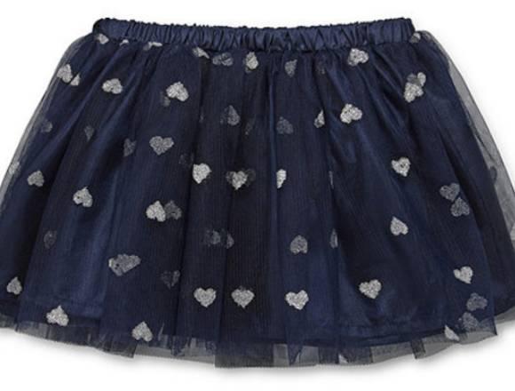 Falda Tutu azul  para niña 12 meses