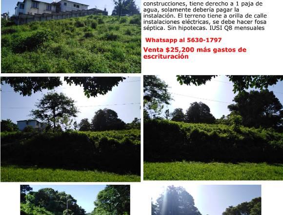 Terreno km 24 entrada a Santa Elena Barillas,