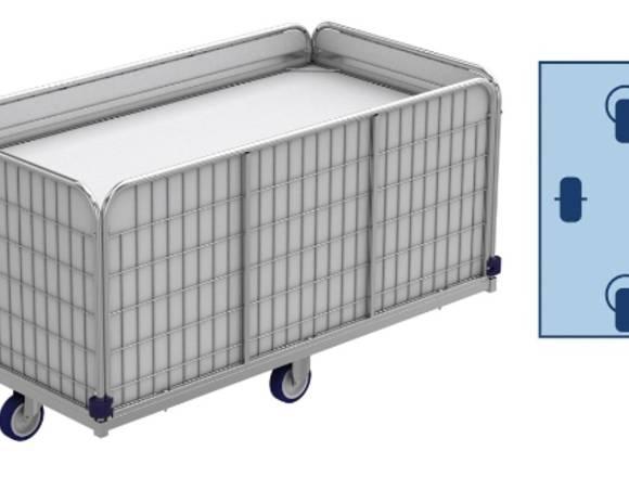 Wagen mit Federboden Wäschewagen für Wäschelogisti
