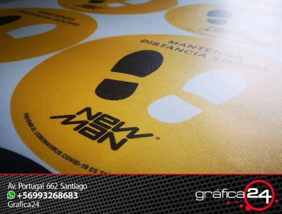 Sticker Circulares con Floor Graphics para Piso