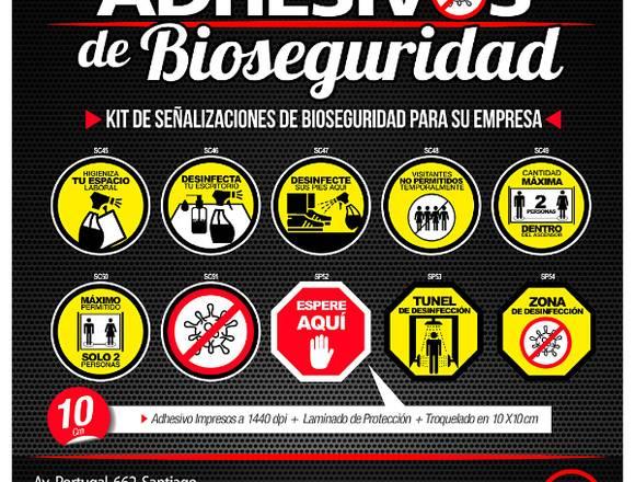 ADHESIVOS DE BIOSEGURIDAD PREVENCION COVID-19