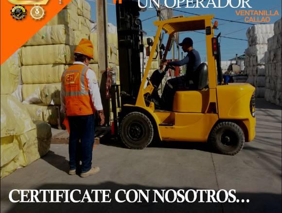 CURSO DE  FORMACIÓN DE OPERADOR DE MONTACARGAS