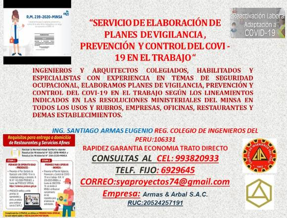 ELABORACION DE PLANES DE VIGILANCIA ANTE COVI -19