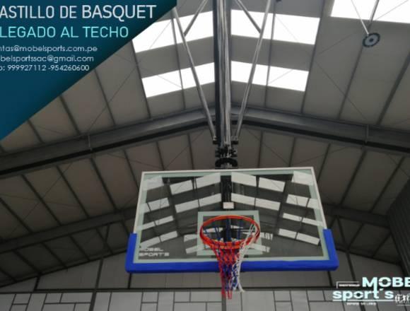 Canasta De Baloncesto Plegado Al Techo