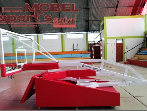 TABLERO DE  BASQUET PLEGABLE - MOBEL SPORT´S