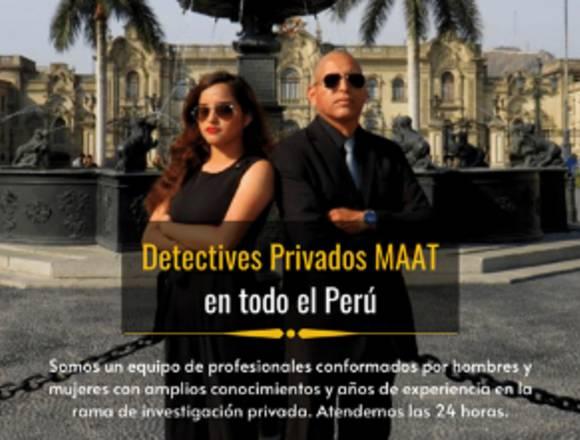 DETECTIVES PRIVADOS LIMA PERU MAAT