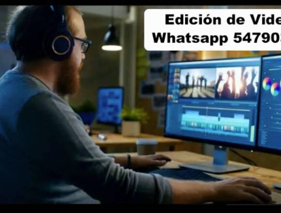 EDICIÓN, ANIMACIÓN DE VIDEOS / ANUNCIOS / SPOTS