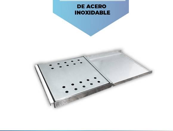 Bandeja desinfectante pediluvio de acero INOX