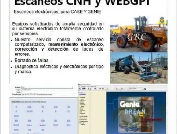 escaneos web gpi y reparación manlift  GENIE